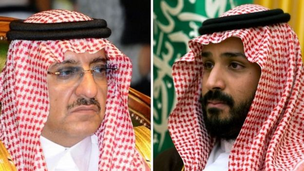 Crown Prince Nayef (l) and Deputy Crown Prince Mohammed (r)