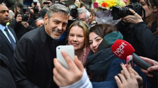 George Clooney is heading to Edinburgh to back sandwich charity for the homeless Social Bite  _86651621_georgegetty2