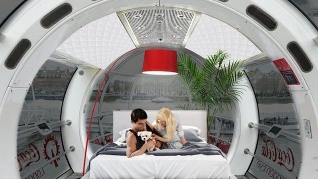 The London Eye will be turning two of its capsules into luxury studio apartments, available to buy later this year