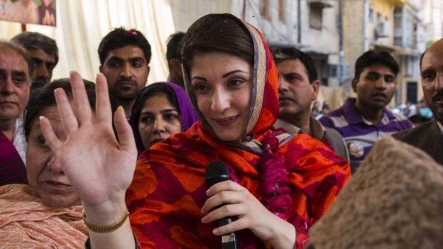 Maryam Nawaz Sharif greets the crowds
