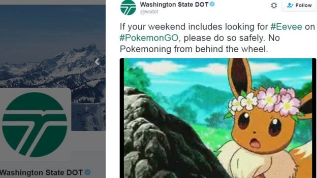 Tuit de la policía de Washington