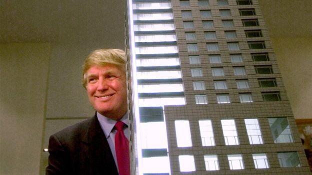New York real estate developer Donald J. Trump officially opens the Presentation Centre for the Residences at The Ritz-Carlton Toronto 29 November 2001.