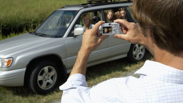 Photographing a car