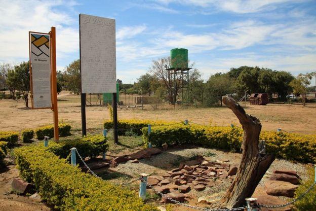 Bustani alikozikwa EL Negro nchini Botswana