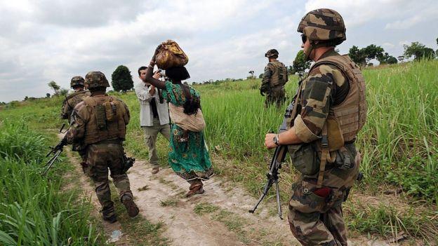 Des soldat de l'opération Sangaris