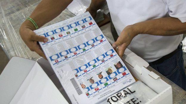 Boleta electoral de Nicaragua