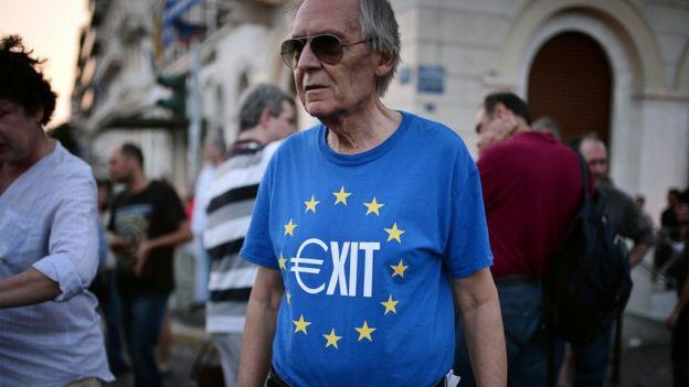 Protesta contra la UE en Atenas