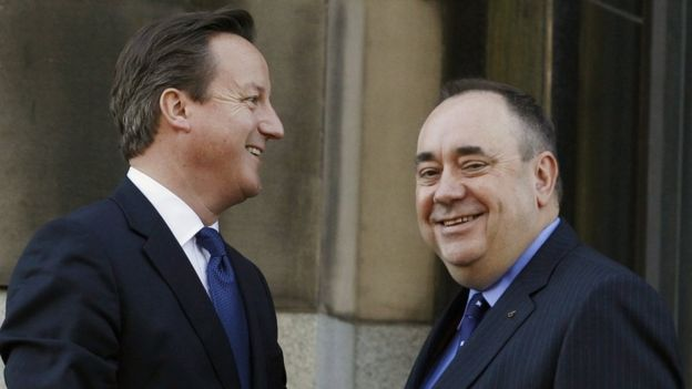 David Cameron and Alex Salmond 2012