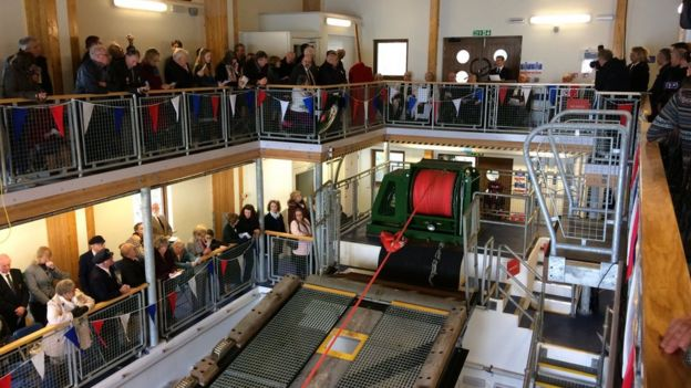 Ceremony inside St Davids lifeboat station