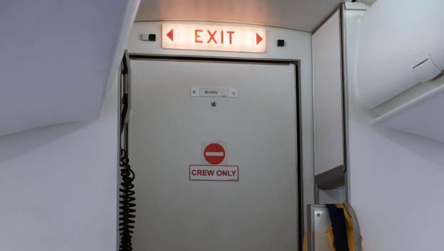 Picture of cockpit door