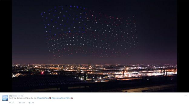 Los drones que iluminaron el cielo de Houston durante el Super Bowl
