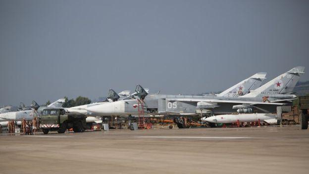 Aviones de combate rusos