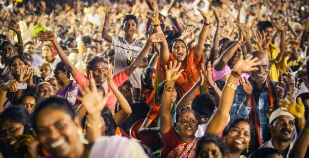 Supporters at Karunanidhi's election really