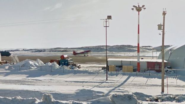 Runway at Iqaluit Airport