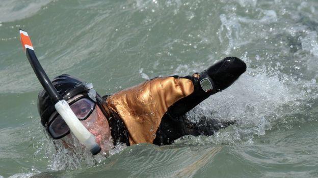 Croizon completando una de sus hazañas en 2012.
