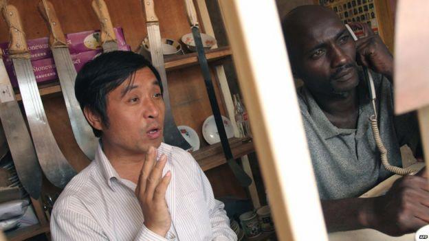 Chinese trader in Kampala, Uganda