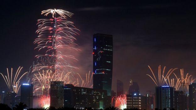 Fireworks in Dubai