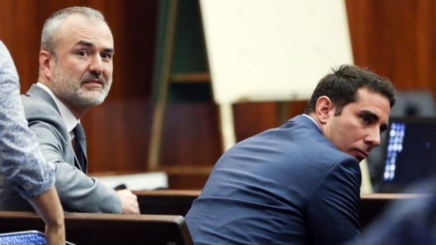 Gawker's founder Nick Denton and journalist AJ Daulerio