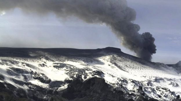 glaciar de Eyjafjallajokull en Islandia en 2010