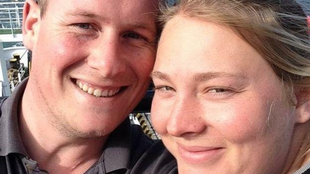 Leanne Louch y su pareja Paul Seaman