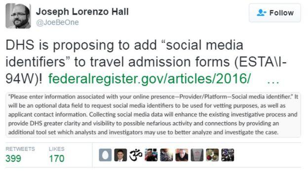 Joseph Lorenzo Hall tweet