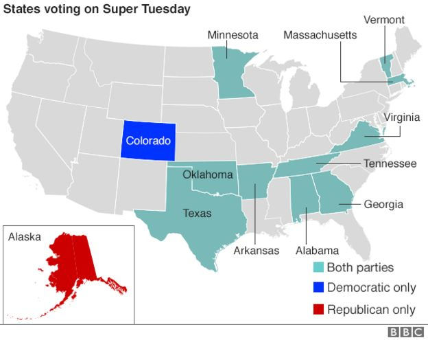 CubaSi - US election 2016: Super Tuesday to test candidates
