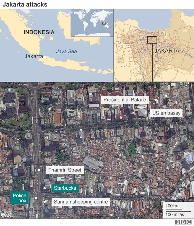 Coordinated Isis Attack In Jakarta Gbcn