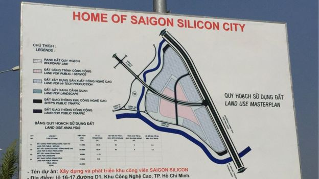 Saigon Silicon City sign