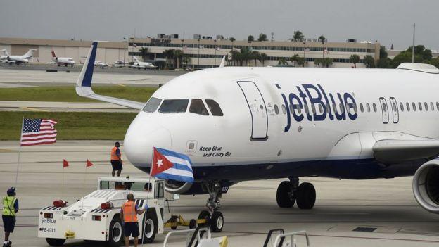 Avión estadounidense en La Habana