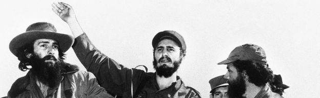 Fidel Castro (centre) and members of his leftist guerrilla movement in Havana. Photo: January 1959