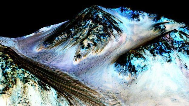 Cientistas procuram explicação para as misteriosas linhas escuras que aparecem em Marte nas estações quentes