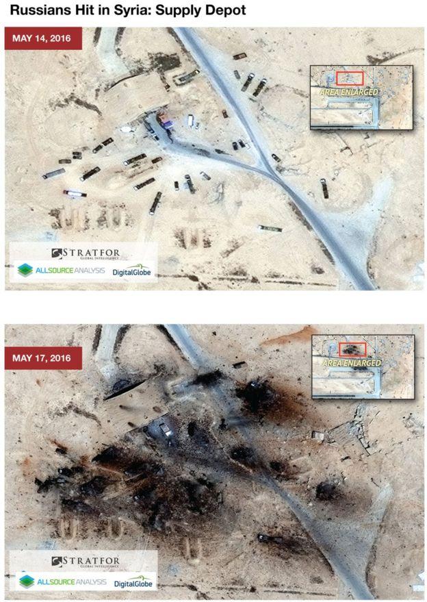 Stratfor satellite image of damaged T4 base