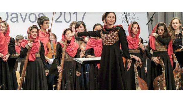تصویری از گروه موسیقی دختران افغانستان