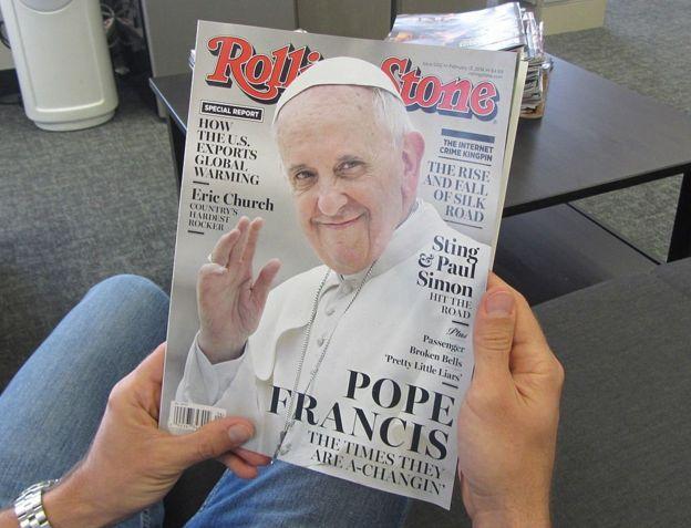 El Papa en la portada de la revista