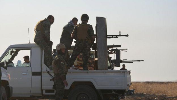 Musul'daki Peşmerge güçleri