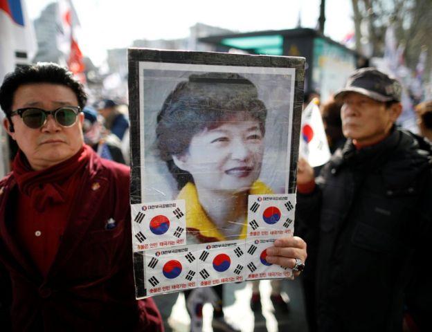 韓國示威者