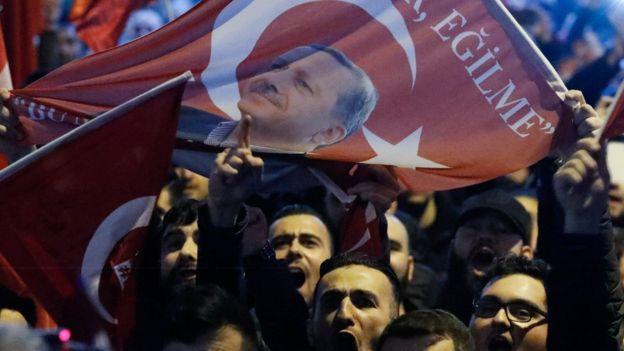 مظاهرة مؤيدة لاردوغان
