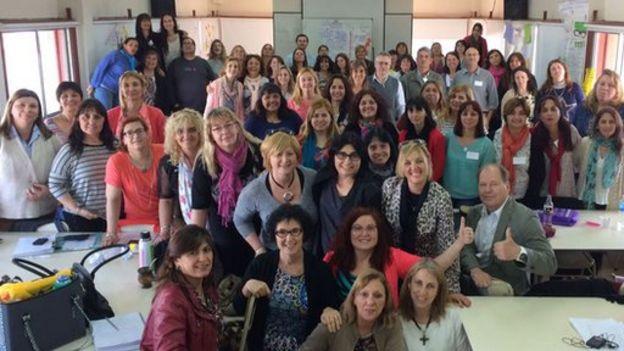 Profesores de la provincia de Santa Fe que participaron de un entrenamiento dictado por la Universidad finlandesa de Tampere