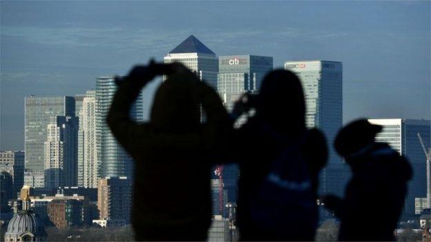 倫敦金融城遠眺