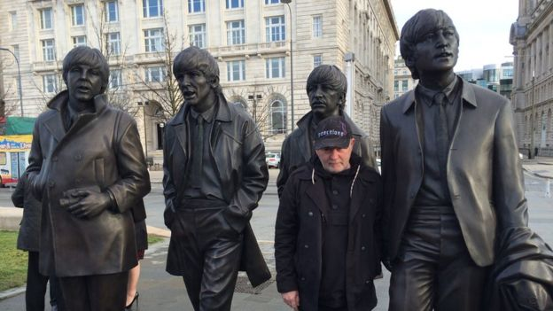 Andy Edwards, the sculptor of the new Beatles statue