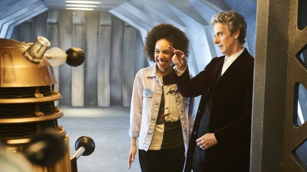 Doctor Who actors Peter Capaldi and Pearl Mackie