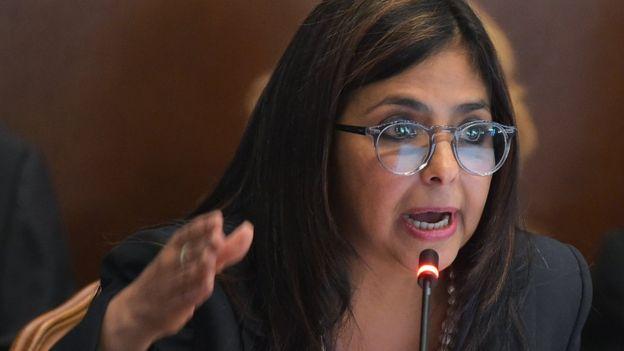La canciller de Venezuela Delcy Rodríguez
