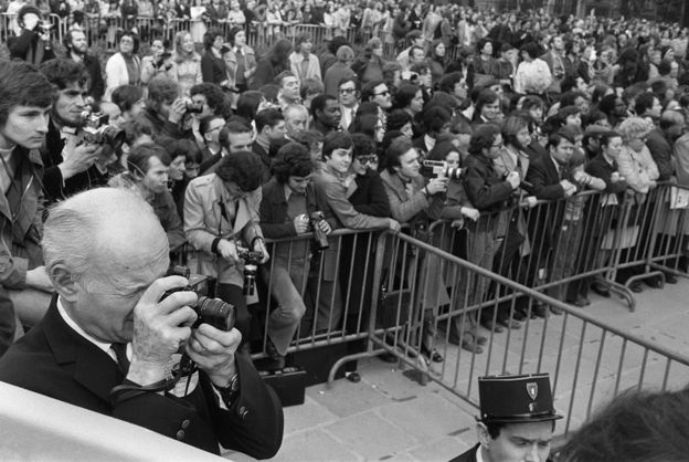 French Photographer Henri Cartier-Bresson, photograph taken in 1974