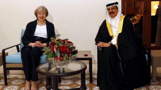 ملك البحرين ورئيسة الوزراء البريطانية