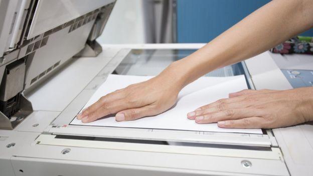Escaneando com uma fotocopiadora