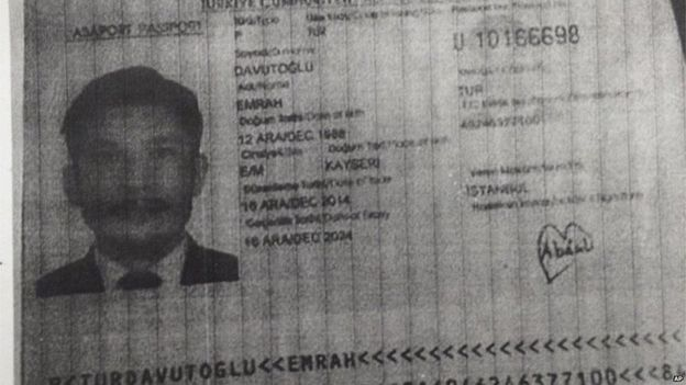 Image of Emrah Davutoglu released by Thai police