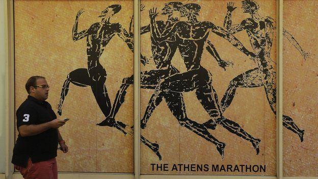 Marathon poster in Athens