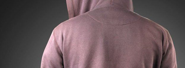 Person in hoodie photographed from behind