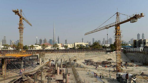 Una construcción en Dubái