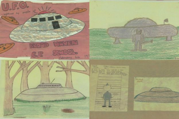 Pupil's drawings taken from Broad Haven School's scrapbook